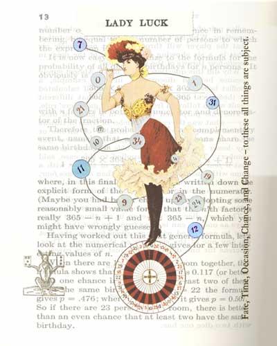 Lady Luck | Digital Collage | Christel's Design Studio