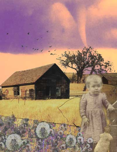 Lizzy (Sadly Beautiful Series)   Digital Collage   Little Finch Designs