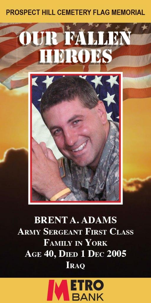 Our Fallen Heroes Banner: Brent Adams   Little Finch Designs