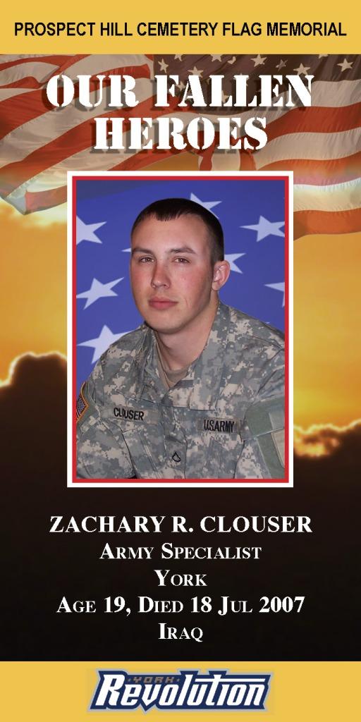 Our Fallen Heroes Banner: Zachary Clouser   Little Finch Designs