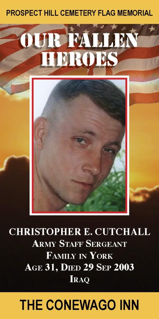 Our Fallen Heroes Banner: Christopher Cutchall   Little Finch Designs