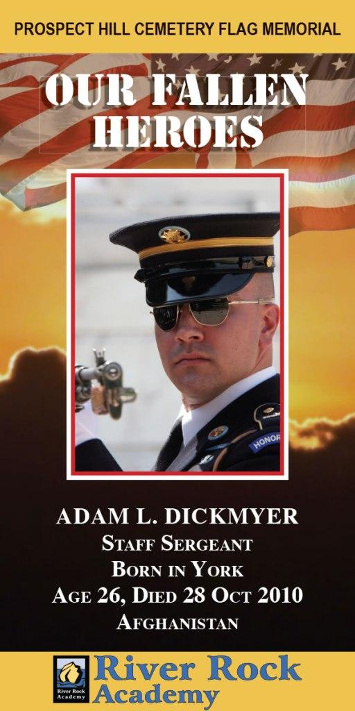 Our Fallen Heroes Banner: Adam Dickmyer   Little Finch Designs