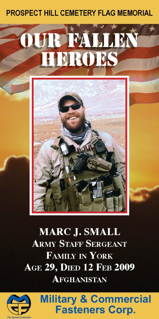 Our Fallen Heroes Banner: Marc Small   Little Finch Designs