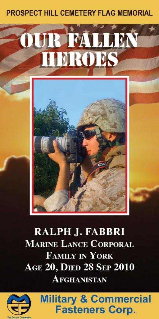 Our Fallen Heroes Banner: Ralph Fabbri   Little Finch Designs