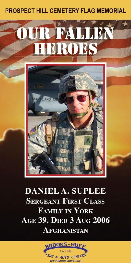 Our Fallen Heroes Banner: Daniel Suplee   Little Finch Designs