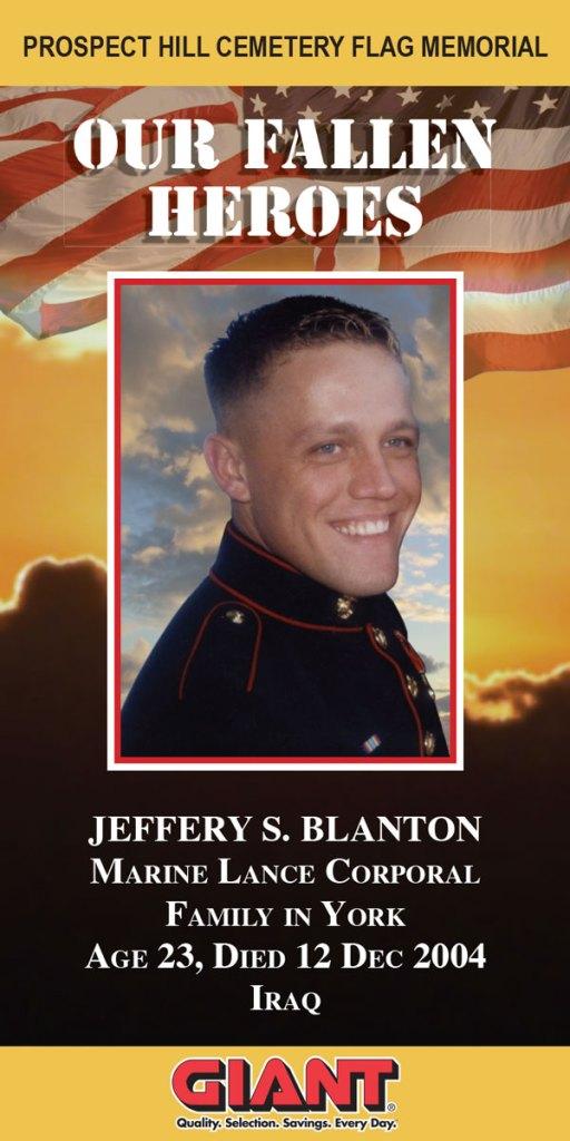 Our Fallen Heroes Banner: Jeffery Blanton   Little Finch Designs