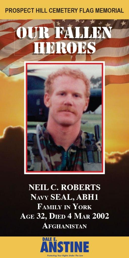 Our Fallen Heroes Banner: Neil Roberts   Little Finch Designs