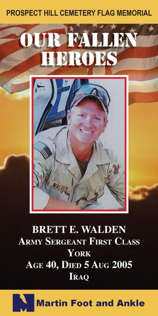 Our Fallen Heroes Banner: Brett Walden   Little Finch Designs