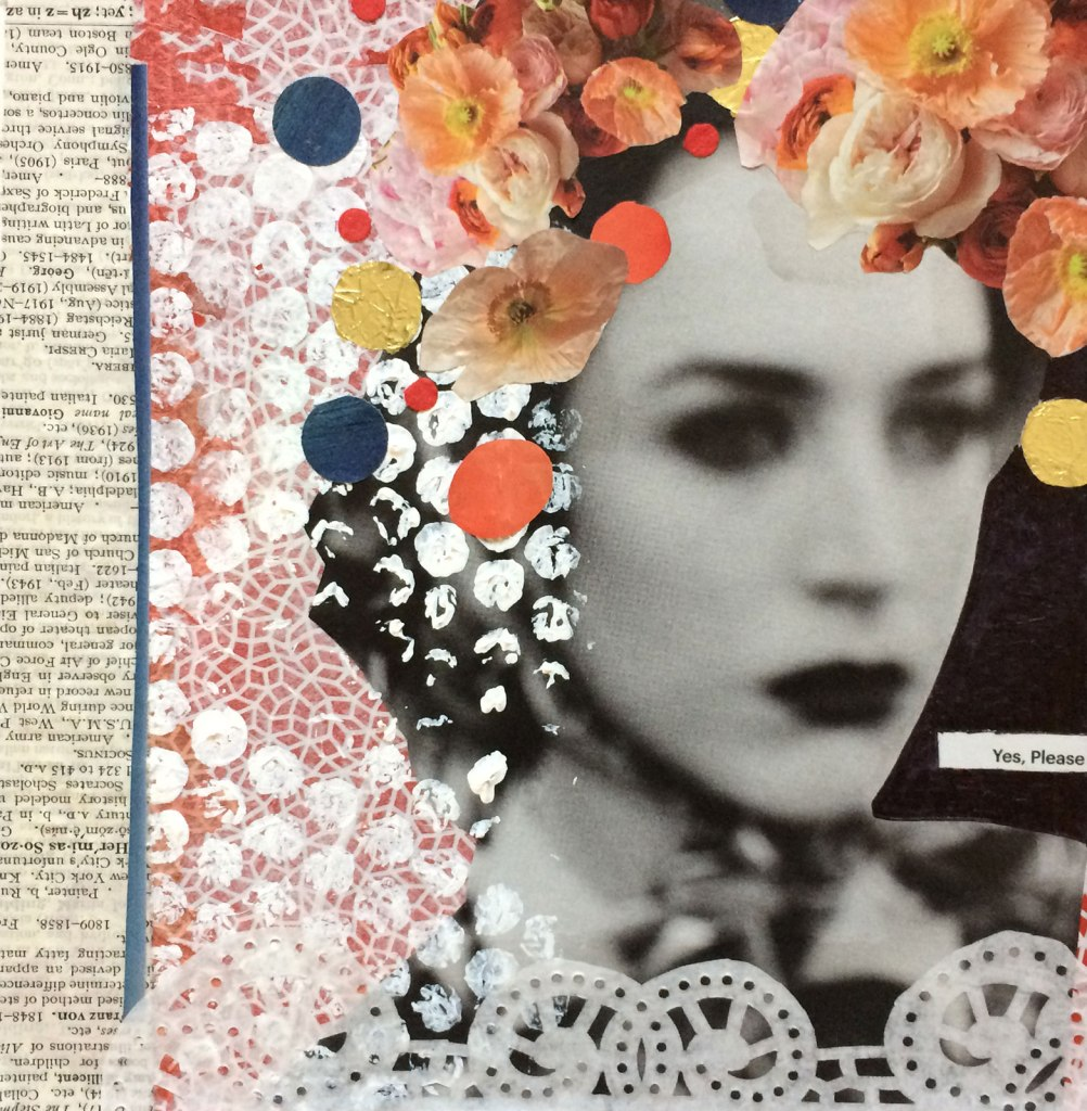 Yes, Please | Mixed Media | Little Finch Designs